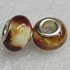 Ceramics Beads European, European Style, 15x11mm Hole:6mm, Sold by Bag