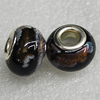 Ceramics Beads European, European Style, 13x9mm Hole:5mm, Sold by Bag