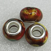 Ceramics Beads European, European Style, 14x10mm Hole:5mm, Sold by Bag