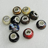 Ceramics Beads European, European Style, Mix Color, 15x11mm Hole:6mm, Sold by Bag