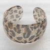 Resin Bracelet, width:37mm, Inner diameter:65mm, Sold by PC