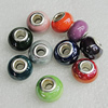 Ceramics Beads European, European Style, Mix Color, 13x9mm Hole:5mm, Sold by Bag