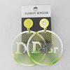 Iron Earrings, Flat Round 45mm, Sold by Group
