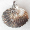 Shell Pendant, 57x56mm, Hole:Approx 4mm, Sold by PC
