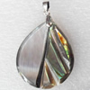 Shell Pendant, 28x45mm, Hole:Approx 4mm, Sold by PC