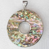 Shell Pendant, 52x63mm, Hole:Approx 4mm, Sold by PC