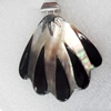 Shell Pendant, 54x63mm, Hole:Approx 4mm, Sold by PC