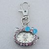 Metal Alloy Fashionable Waist Watch, Cat Head 28x30mm, Sold by PC