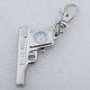 Metal Alloy Fashionable Waist Watch, 50x30mm, Sold by PC