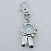 Metal Alloy Fashionable Waist Watch, Hand 42x22mm, Sold by PC
