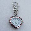 Metal Alloy Fashionable Waist Watch, Heart 31x28mm, Sold by PC