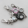 Metal Alloy Fashionable Waist Watch, Mix Style, 37x24mm-57x25mm, Sold by Group