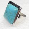 Alloy Gemstone Finger Rings, 25mm, Ring:18mm inner diameter, Sold by Box