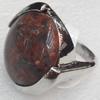 Alloy Gemstone Finger Rings, 20mm, Ring:16mm inner diameter, Sold by Box