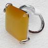 Alloy Cats Eye Finger Rings, 27mm, Ring:20mm inner diameter, Sold by Box