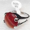 Alloy Gemstone Finger Rings, 18mm, Ring:20mm inner diameter, Sold by Box