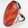 Alloy Gemstone Finger Rings, 18x32mm, Ring:18mm inner diameter, Sold by Box