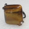 Alloy Gemstone Finger Rings, 27mm, Ring:19mm inner diameter, Sold by Box