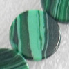 Malachite Beads,Flat Round, 6x2mm, Hole:Approx 1mm, Sold per 16-inch Strand