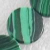 Malachite Beads,Flat Round, 8x3mm, Hole:Approx 1mm, Sold per 16-inch Strand