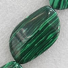 Malachite Beads,22x36mm, Hole:Approx 1mm, Sold per 16-inch Strand