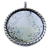 Zinc Alloy Cabochon Settings, Lead-free, Outside Diameter:30mm Inner Diameter:26mm, Sold by Bag