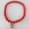 Fashion Coral Bracelet, width:7mm, Length Approx:7.1-inch, Sold by Strand