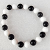 Fashion Bracelet, Shell Beads & Agate Beads, width:8mm, Length Approx:6.7-inch, Sold by Strand