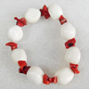 Fashion Coral Bracelet, width:12mm, Length Approx:7.1-inch, Sold by Strand