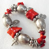 Fashion Coral Bracelet, width:20mm, Length Approx:7.1-inch, Sold by Strand