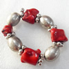 Fashion Coral Bracelet, width:27mm, Length Approx:7.1-inch, Sold by Strand