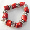 Fashion Coral Bracelet, width:18mm, Length Approx:8.6-inch, Sold by Strand