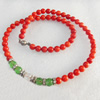 Fashion Coral Necklace, width:7mm, Length Approx:15.7-inch, Sold by Strand