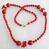 Fashion Coral Necklace, width:6-13mm, Length Approx:15.7-inch, Sold by Strand