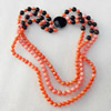 Fashion Coral Necklace, width:8mm, Length Approx:17.7-inch, Sold by Strand