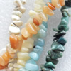 Gemstone Beads, Chips, Mix Colour, 5-8mm, Hole:Approx 1mm, Length:16-inch, Sold by Group