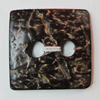 Coconut Shell Button, Square 25mm Hole:4.5mm, Sold by Bag