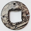 Coconut Shell Connectors, Flat Round 56mm Hole:4mm, Sold by Bag