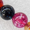 Crackle Glass Beads, Round, 14mm, Hole:Approx 1mm, Sold per 16-inch Strand
