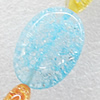 Crackle Glass Beads, Flat Oval, 18x25mm, Hole:Approx 1mm, Sold per 16-inch Strand
