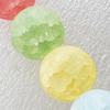 Matte Crackle Glass Beads, Round, 14mm, Hole:Approx 1mm, Sold per 16-inch Strand