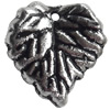 Antique Silver Plastic Pendant, 15x18mm, Hole:Approx 2mm, Sold by Bag