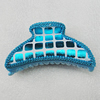 Fashional hair Clip with Leather, 90x50mm, Sold by Group