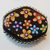 Handmade Indonesia Beads, Diamond 27x23mm Hole:4.5mm, Sold by PC