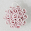 Ceramics Pendants, Flower 35mm Hole:5mm, Sold by PC