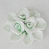 Ceramics Pendants, Flower 44mm Hole:9x5mm, Sold by PC