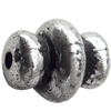 Antique Silver Plastic Beads, 13x10mm, Hole:Approx 2mm, Sold by Bag