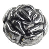 Antique Silver Plastic Beads, 17x15mm, Hole:Approx 2mm, Sold by Bag