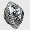 Antique Silver Plastic Beads, 10x14mm, Hole:Approx 2mm, Sold by Bag