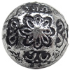 Antique Silver Plastic Beads, 12mm, Hole:Approx 2mm, Sold by Bag